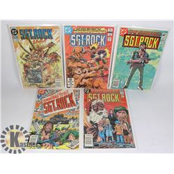 5 VINTAGE COMICS - SGT ROCK