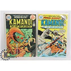 TWO 20/25 CENT KAMANDI COMICS