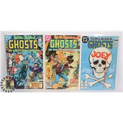 3 VINTAGE YOU WILL BELIEVE IN GHOSTS COMICS