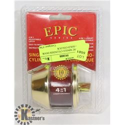 NEW EPIC SINGLE CYLINDER DOOR LOCK - GOLD COLOUR