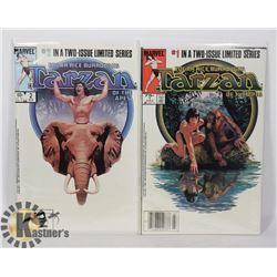 TARZAN OF THE APES #1 AND #2 COMIC BOOKS
