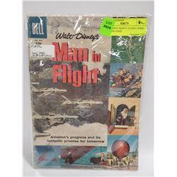 1957 DISNEY MAN IN FLIGHT COMIC DELL 836 GOOD