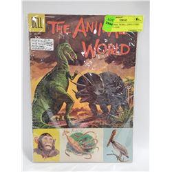 1956 ANIMAL WORLD DINO COMIC DELL 713 FINE