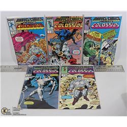 LOT OF VINTAGE MARVEL COLOSSUS COMIC BOOKS.