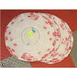 LOT OF 5 PAPER ORIENTAL LAMP SHADES