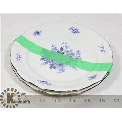 ROYAL BAVARIAN SMALL FINE CHINA PLATES X2