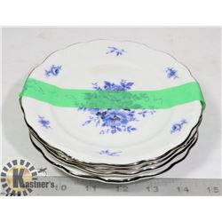 ROYAL BAVARIAN SMALL SIDE PLATES FINE CHINA X4