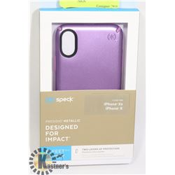 NEW SPECK X / XS IPHONE CASE - PURPLE DESIGN