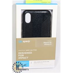 NEW SPECK X / XS IPHONE CASE  BLACK GLITTER W/GRIP