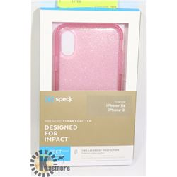NEW SPECK X / XS IPHONE CASE - PINK GLITTER