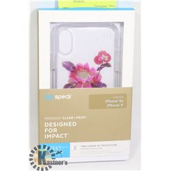 NEW SPECK X / XS IPHONE CASE - FLORAL DESIGN