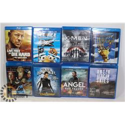 LOT OF 8 BLU RAY MOVIES