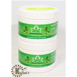 TWO TUBS OF KNATURAL ADVANCED SHEA BODY BUTTER