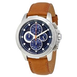 NEW MICHAEL KORS BLUE DIAL TRIPLE CHRONO MSRP $375