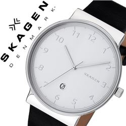 NEW SKAGEN DENMARK LEATHER BAND WATCH MSRP $225