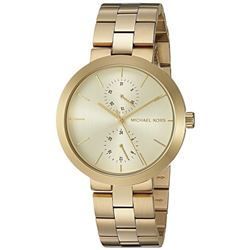NEW MICHAEL KORS GOLD TONE 2-CHRONO 39MM MSRP $299