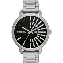 NEW DIESEL GUNMETAL TONE BLACK 49MM DIAL MSRP $219