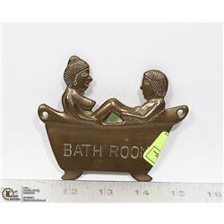 DELGIF SEXY BATH TUB BRASS DOOR SIGN