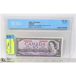 1954 CANADIAN 10 DOLLAR BILL