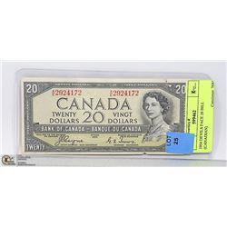 1954 DEVILS FACE 20 BILL (CANADIAN)