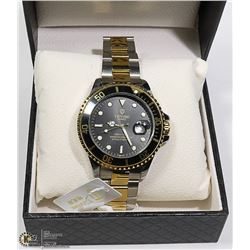 """NEW TEVISE """"SUBMARINER"""" STYLE MENS WATCH"""