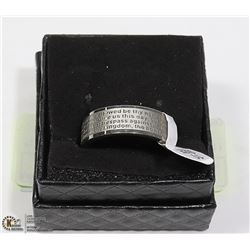 """""""LORDS PRAYER"""" MENS RING SIZE 11"""