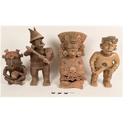 Pre-Columbian Style Clay Figures  (108683)