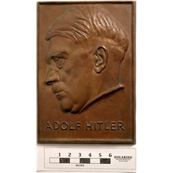 Hitler Bronze Plaque  (124503)