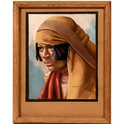 Jorge Levoyer's Study in Oil of Native Ecuadorian Woman  (119004)