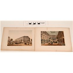 Paris Hotels in Antique Hand-colored Prints  (124623)