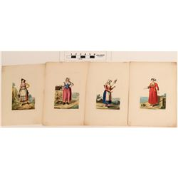Women of Italy Art Drawings (4) by Ferrari  (124606)