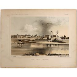 Lithographs from an Early Railroad Survey: Fort Smith Arkansas  (124315)