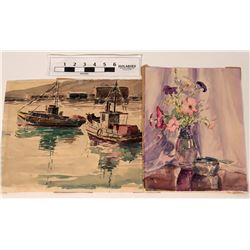 Original Watercolors by Mabel George Haig  (122035)