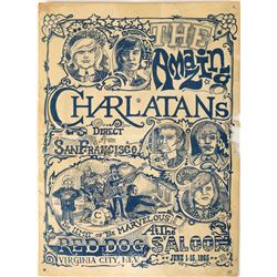 """First Psychedelic Rock Poster """"The Seed"""" 1965 Charlatans Original Artwork (122900)"""