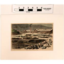Nevada Mining Hand Colored Print  (122799)