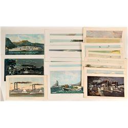 Courrier & Ives Sailing Ship Prints  (122054)