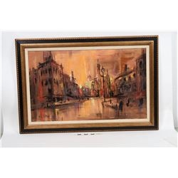 Abstract Cityscape - Oil Painting by Lee K Parkinson  (125202)