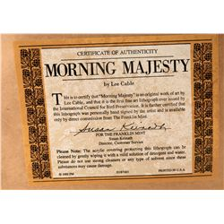 Bald Eagle Print Titled Morning Majesty Lithograph Print by Lee Cable  (125005)
