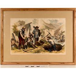California Gold Diggers - Framed Print  (125067)
