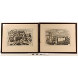 Harper's Weekly Framed Prints (2)  (124633)