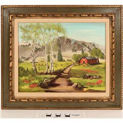 Highlands Western Mountain Scene Oil Painting  (124991)