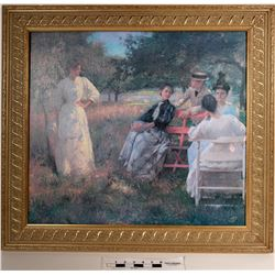 In the Orchard, Print of Painting by E. C. Tarbell  (108664)
