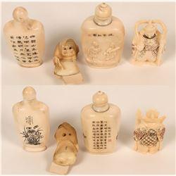 Japanese Netsuke figurines and Snuff Bottles  (122921)