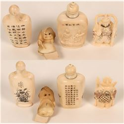 Japanese Netsuke figurines and Snuff Bottles  (122921)