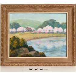 Lakeview Oil Painting by OC Applegate  (124999)