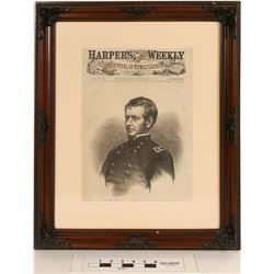 Major-General Hooker, Framed from Harper's Weekly Cover  (124634)