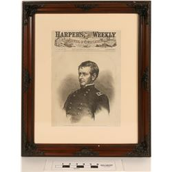 Major-General Hooker, Framed from Harper's Weekly Cover  (124634)