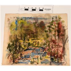 Original Watercolor Landscape  (122036)