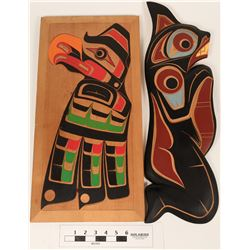 Pacific Northwest Carved Pictorial Art (2 pieces)  (119717)