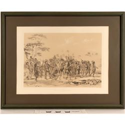 Geo. Catlin's Archery of the Mandans - Framed Litho Reproduction  (125090)